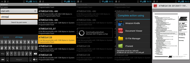 ADSdroid version 1.0 screenshots