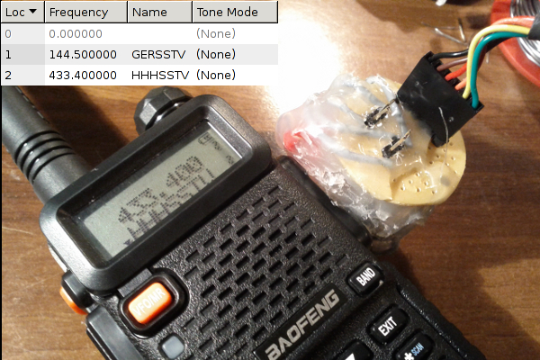HHHSSTV channel stored on Baofeng UV-5R