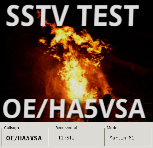 PySSTV test with slowrx in Austria