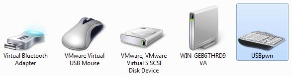 USBpwn in the Windows 7 devices dialog